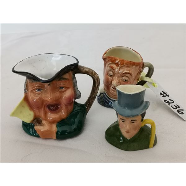 Toby mugs, made in England (3)