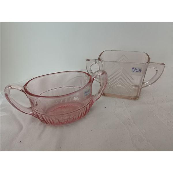 Pink depression glass sugars (2)