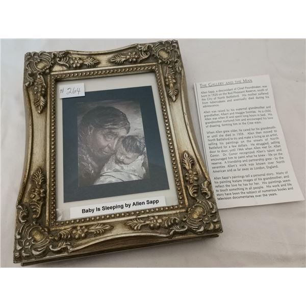 "Allen Sapp print, ""Grandmother and baby"""