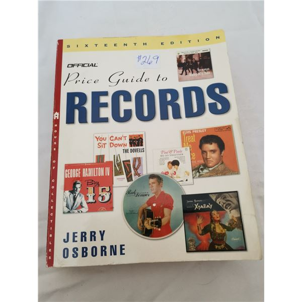 """Resource book, """"Official Price Guide to Records"""""""