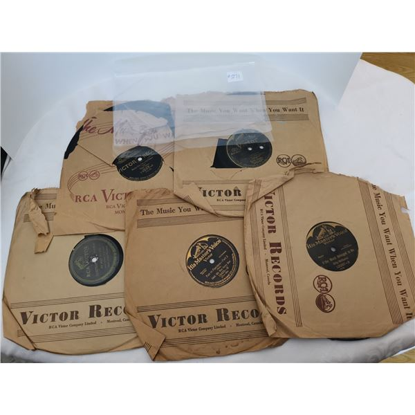 """Lot of 5 Victor RCA 78's including """"Sons of the Pioneers"""""""