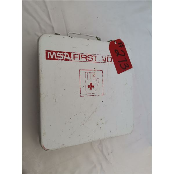 """Metal First Aid kit, 9 ½"""" square"""
