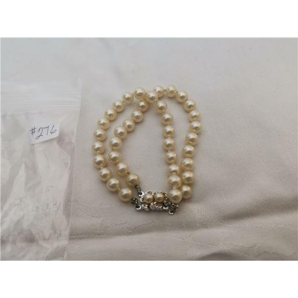 Faux pearl bracelet by Coro