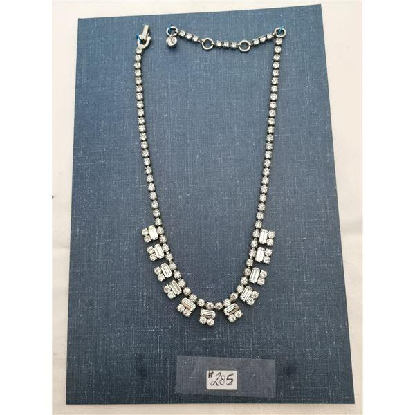 Sherman rhinestone necklace (signed)
