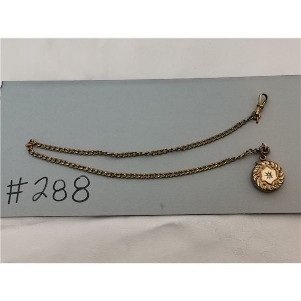 Watch chain with locket/fob