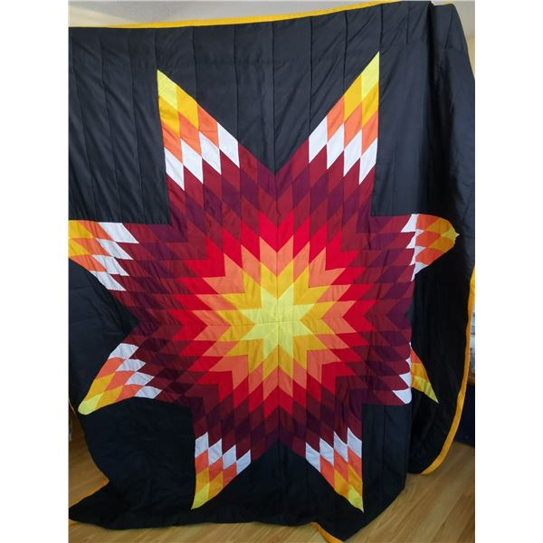 """Star Blanket quilt, 72""""x 84', very good condition"""