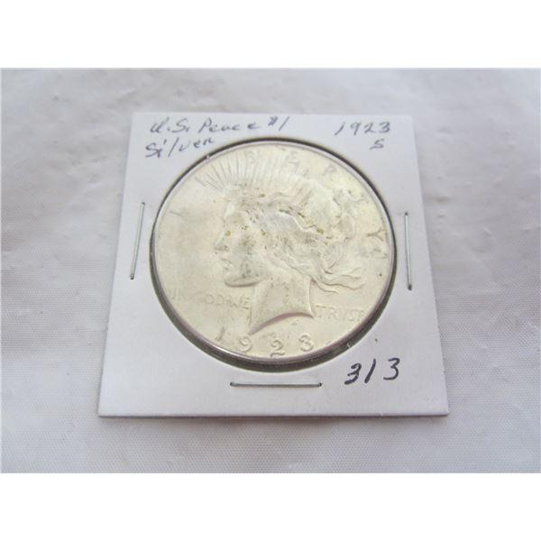 Peace Silver Dollar 1923 S