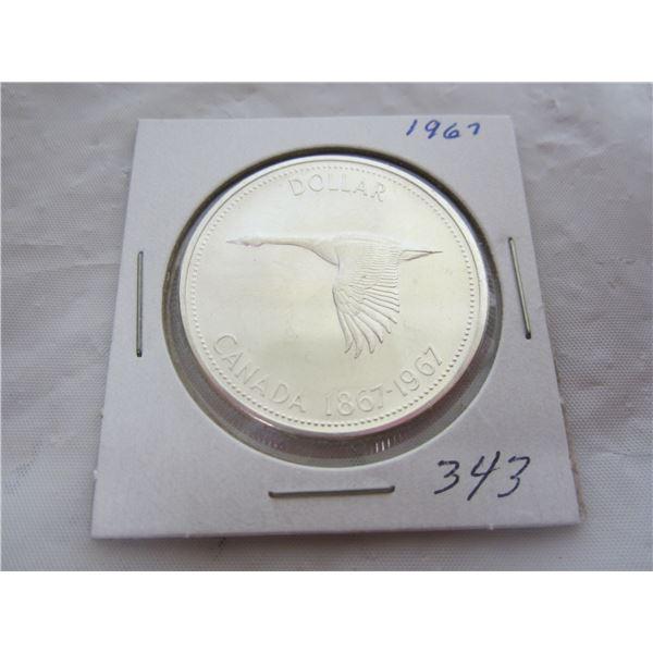 1967 Canadian Silver Dollar