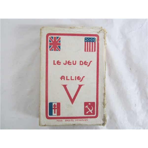 Rare Set of Canadian WW2 Victory Playing Cards and Box