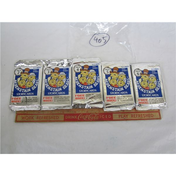 Lot of 5 unopened packages of Berenstain Bears cards 1992