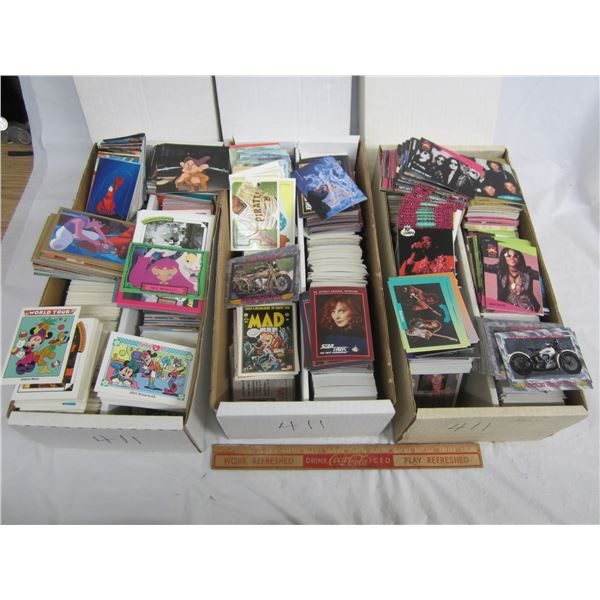 Lot of 3 Shoe Boxes of 1990's non-sports cards great for making sets
