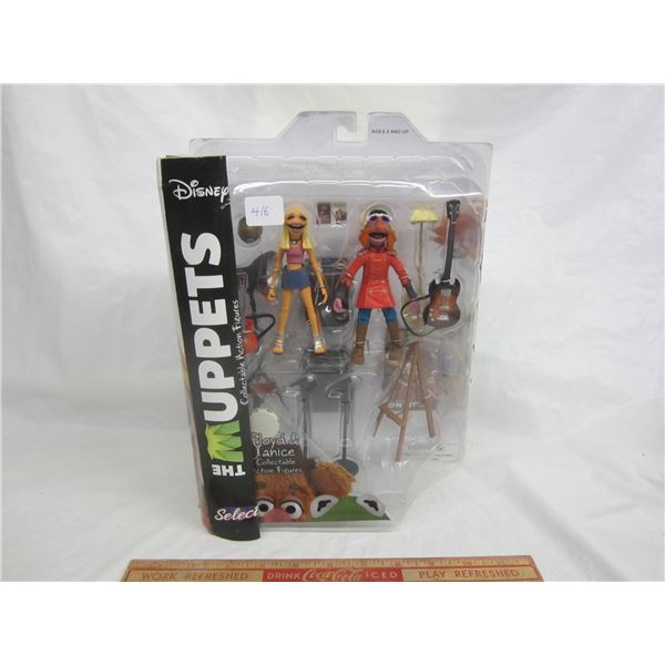 Hard to find The Muppets Floyd and Janice Action Figure set