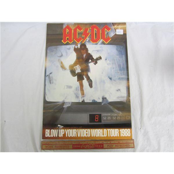 AC-DC Blow Up Your World Tour 1988 Concert Program