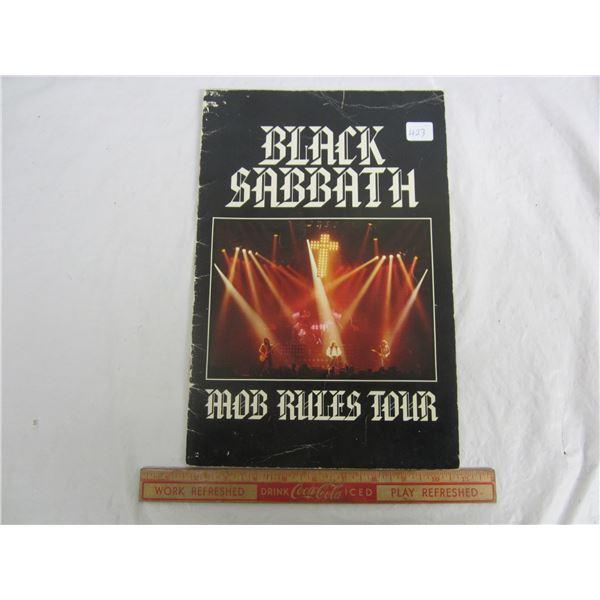 Original Back Sabbath Mob Rules Concert Program