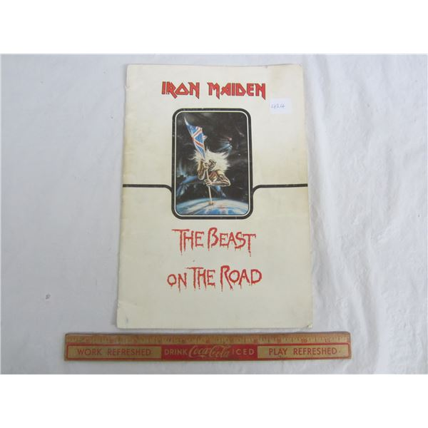 Original Iron Maiden The Beast On The Road Concert Program