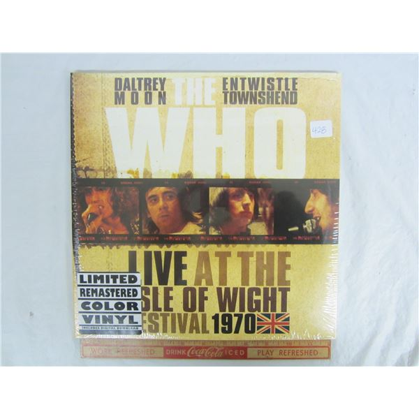 The Who Live Colored Vinyl Factory Sealed LP Record