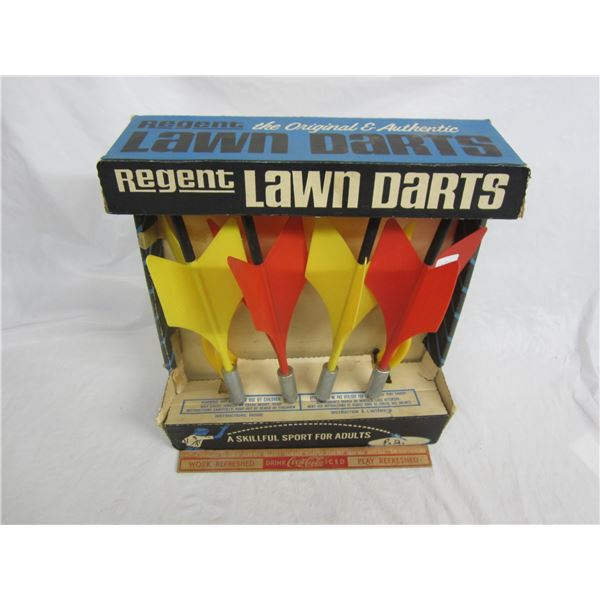 Set of Lawn Darts with original packaging