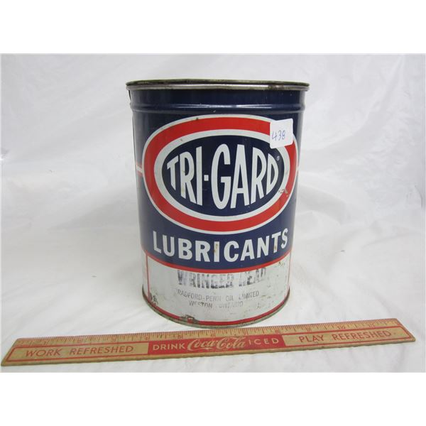 Vintage TRI-GARD grease can half full