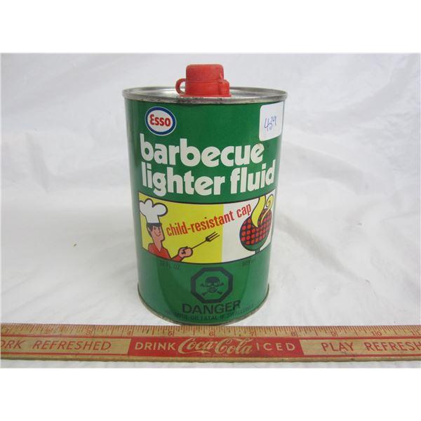 Vintage ESSO Barbecue lighter fluid can