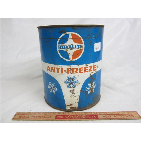 Vintage Royalite anti-freeze can