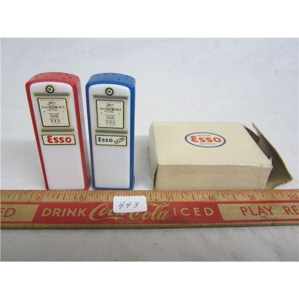 1960's Imperial Esso Pump salt and pepper in original box