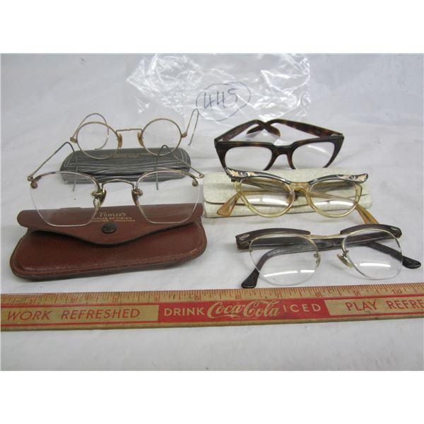 Lot of 5 sets of vintage eye glasses