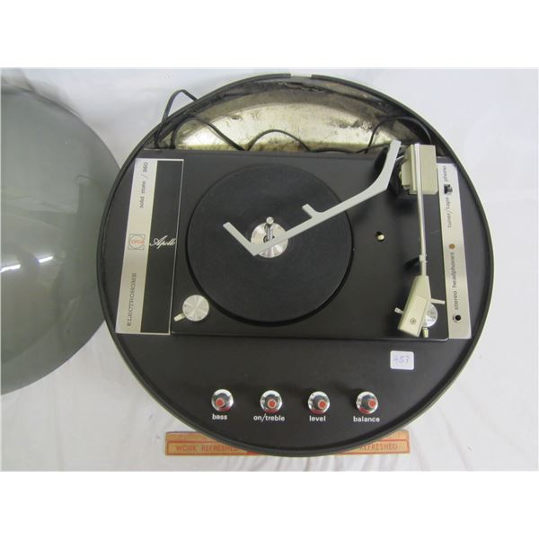 1960's Appollo Dome Top Flying Saucer Turntable Working