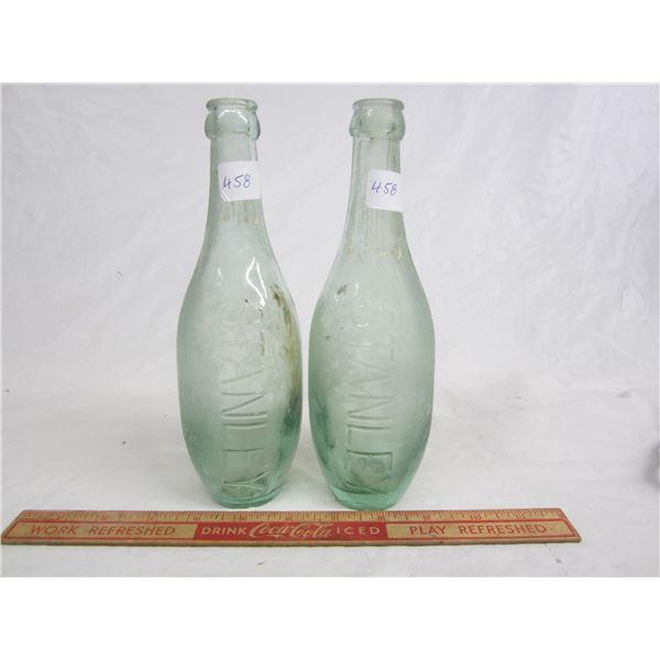 Lot of 2 Antique Stanley Bottles