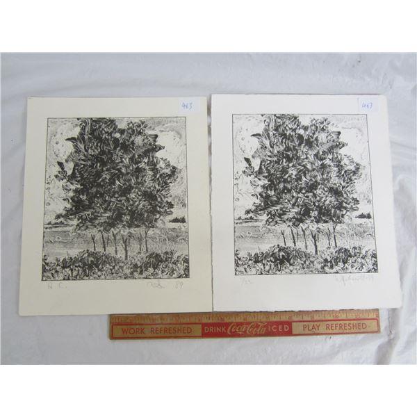 Semenott 1989 art work and numbered print