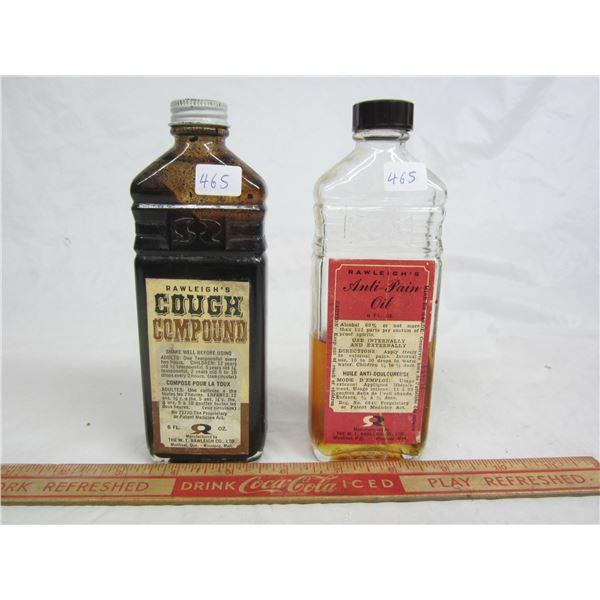 2 Antique Medicine Bottles