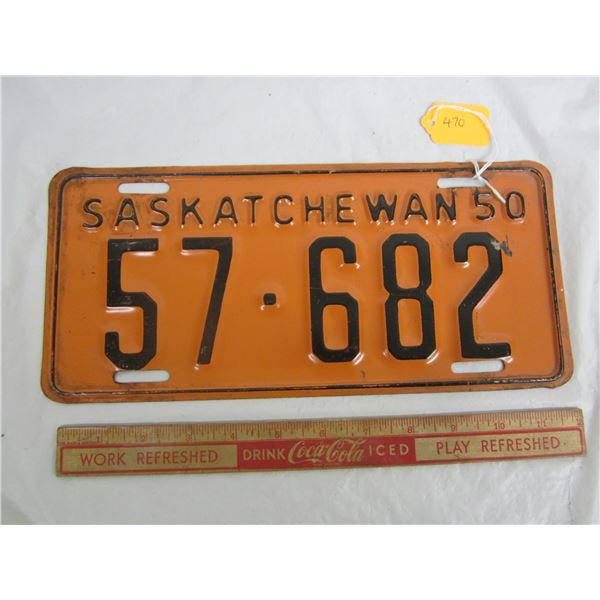 1950 Saskatchewan License Plate