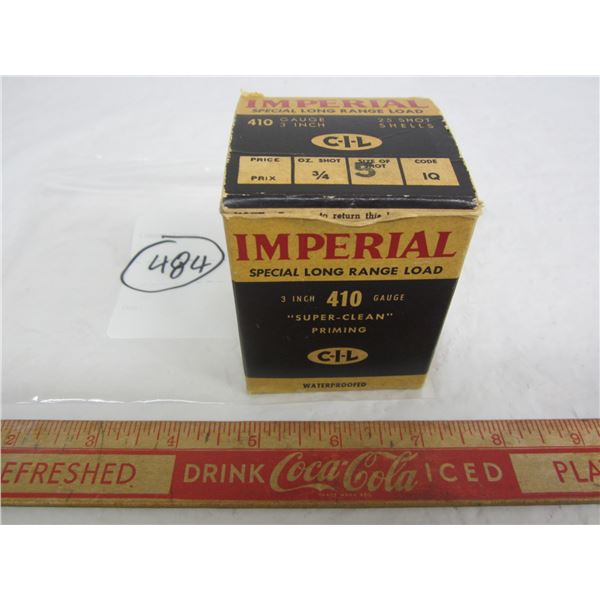 Vintage Imperial CIL 410 Gauge Shot Gun Shell Box partially full