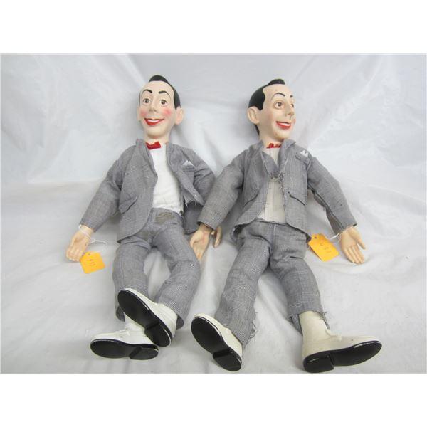 2 Pee Wee Herman Dolls