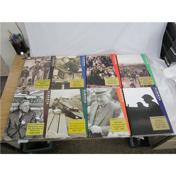 Set of 1-8 Alberta in the 20th Century History Books