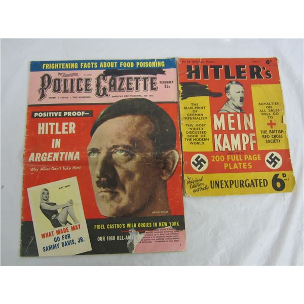 Lot of 2 Vintage Hitler Articles Magazines