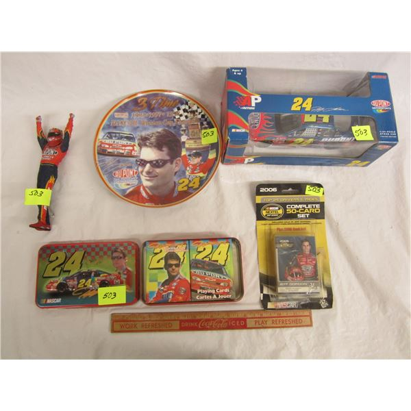 Jeff Gordon Plate, Car, Playing Cards ect