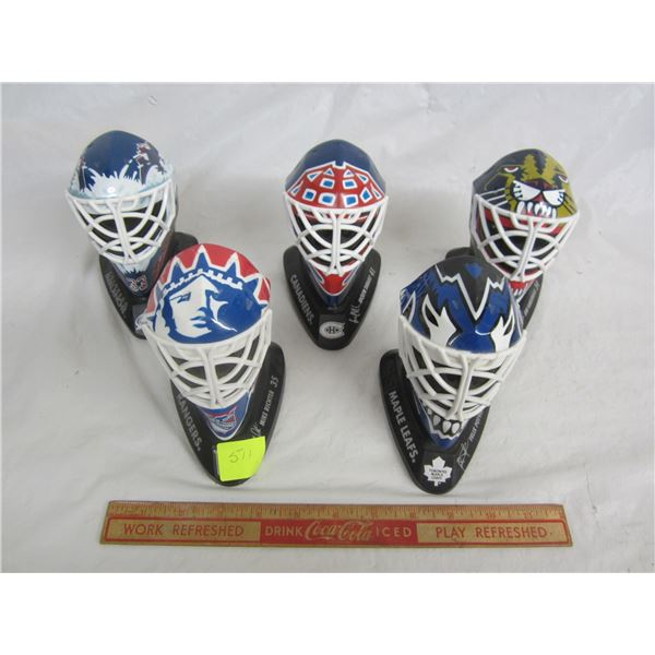 Lot of 5 McDonalds Masks Roy , Potvin ect.