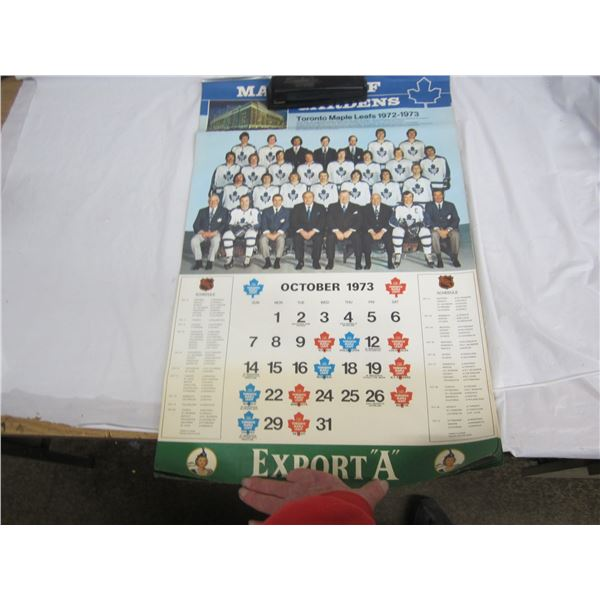 1973 Export A Toronto Calendar with 1972 Team Canada Photo