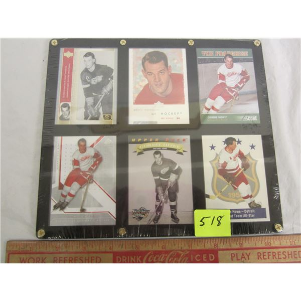 6 Gordie Howe Cards in Screw Down