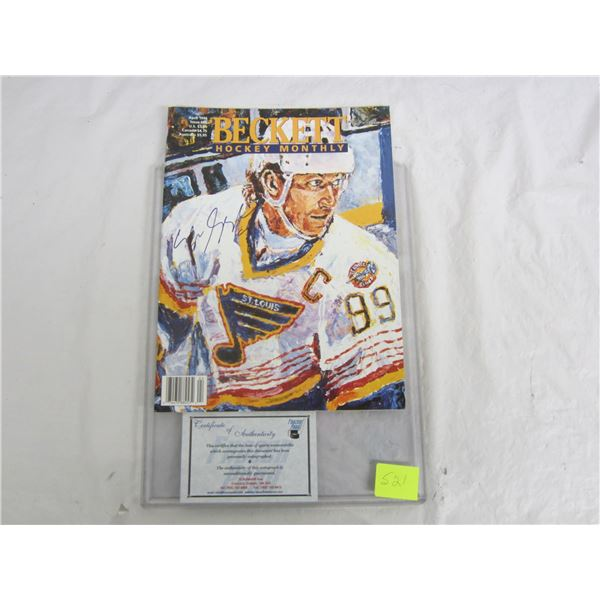 April 1997 Becketts autographed by Wayne Gretzky with Coa