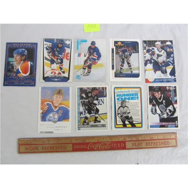 Lot of 9 Wayne Gretzky Cards