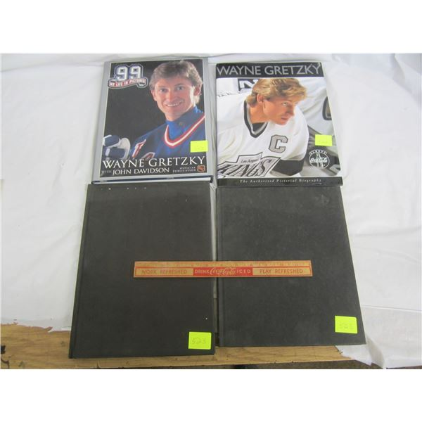 Lot of 4 Wayne Gretzky Books