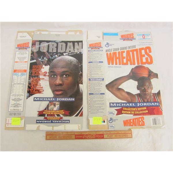 2 Wheaties Cereal Boxes Michael Jordan