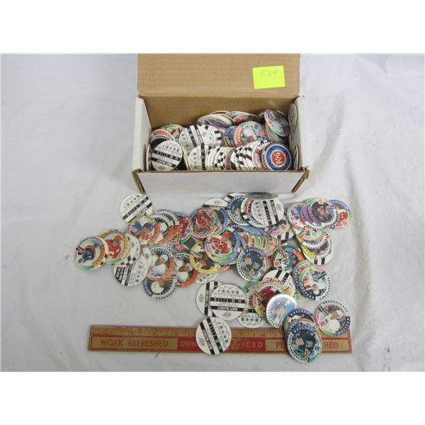 Large Collection of Hockey Pogs