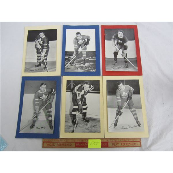 6 Beehive Hockey Photos 1940's