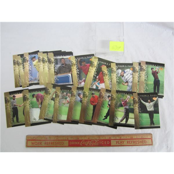 Set of 30 Tiger Woods Tales Cards from Rookie Year