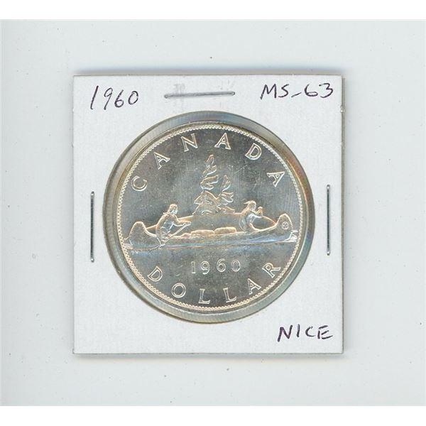1960 Silver Dollar. MS-63. Nice.