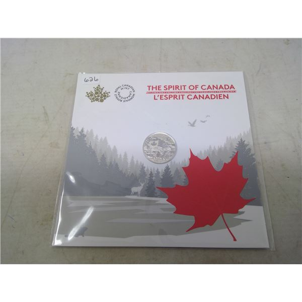 2017 The Spirit of Canada $3. Commemorates Confederation. Father & son playing hockey. .9999 pure si