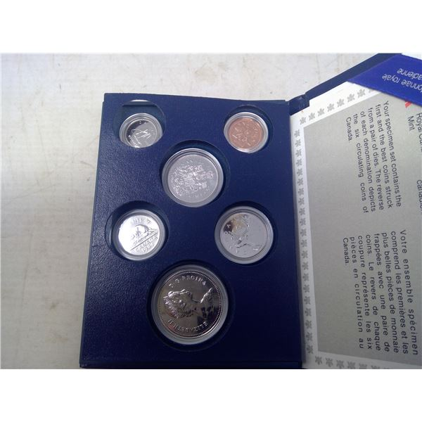 1984 Specimen set. Set of 6 contains the first and best coins struck from a pair of dies. Housed in