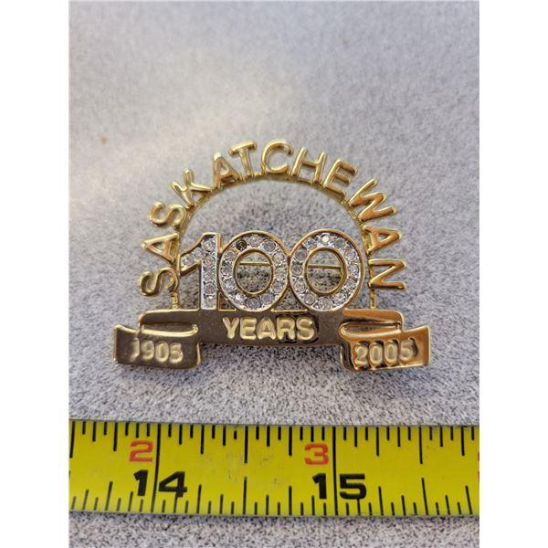 Saskatchewan 100th anniversary pin 1905-2005